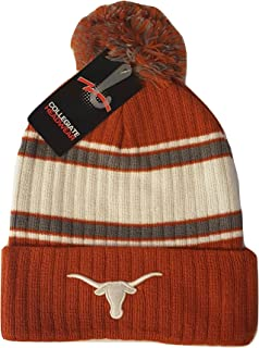 promo code 8ade7 c9614 Texas Longhorns Knit Cuff Beanie with Pom