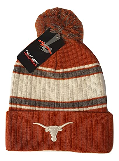 d87dcd1465a Amazon.com   Texas Longhorns Knit Cuff Beanie with Pom   Sports   Outdoors
