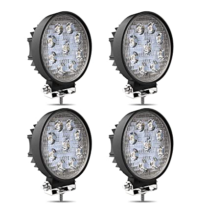 4pcs 27w 4in barra led flood faros antiniebla luces de marcha ...