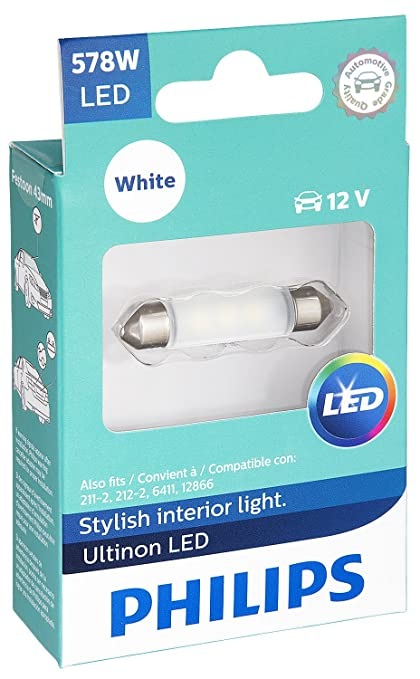 Philips 578 Ultinon LED Bulb (White), 1 Pack