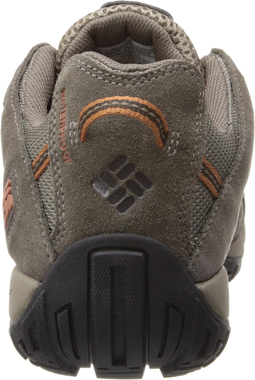 Columbia Men's Redmond Waterproof Low Hiking Shoe, Advanced Traction Technology Pebble/Dark Ginger