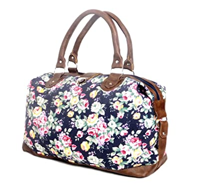 d07e9c09817b Womens Canvas Weekend Bag Ladies Overnight Maternity Travel Hand Luggage  Bags