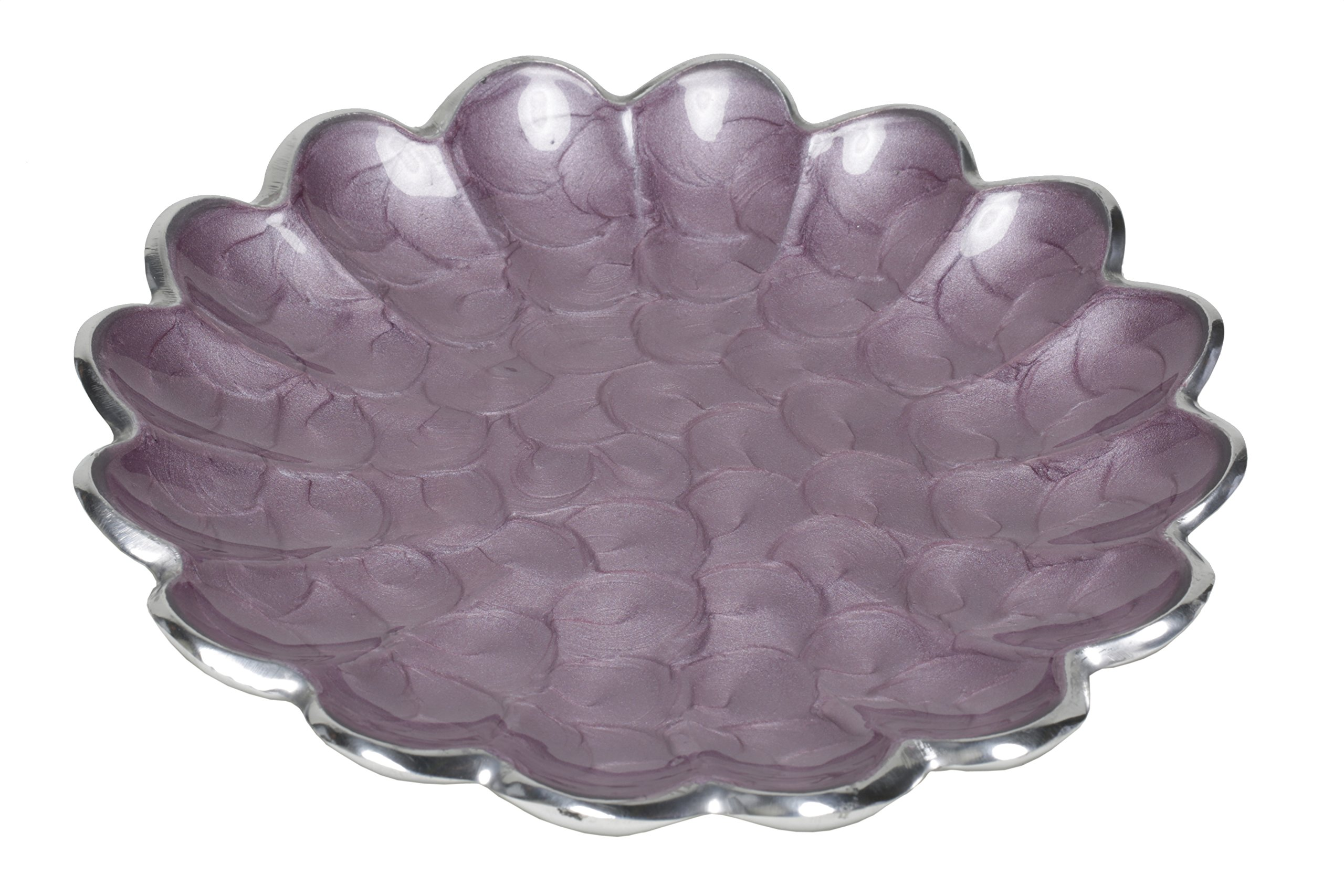 Artisan d'Orient 8'' Petite Plates, Color - Purple, Set of 4