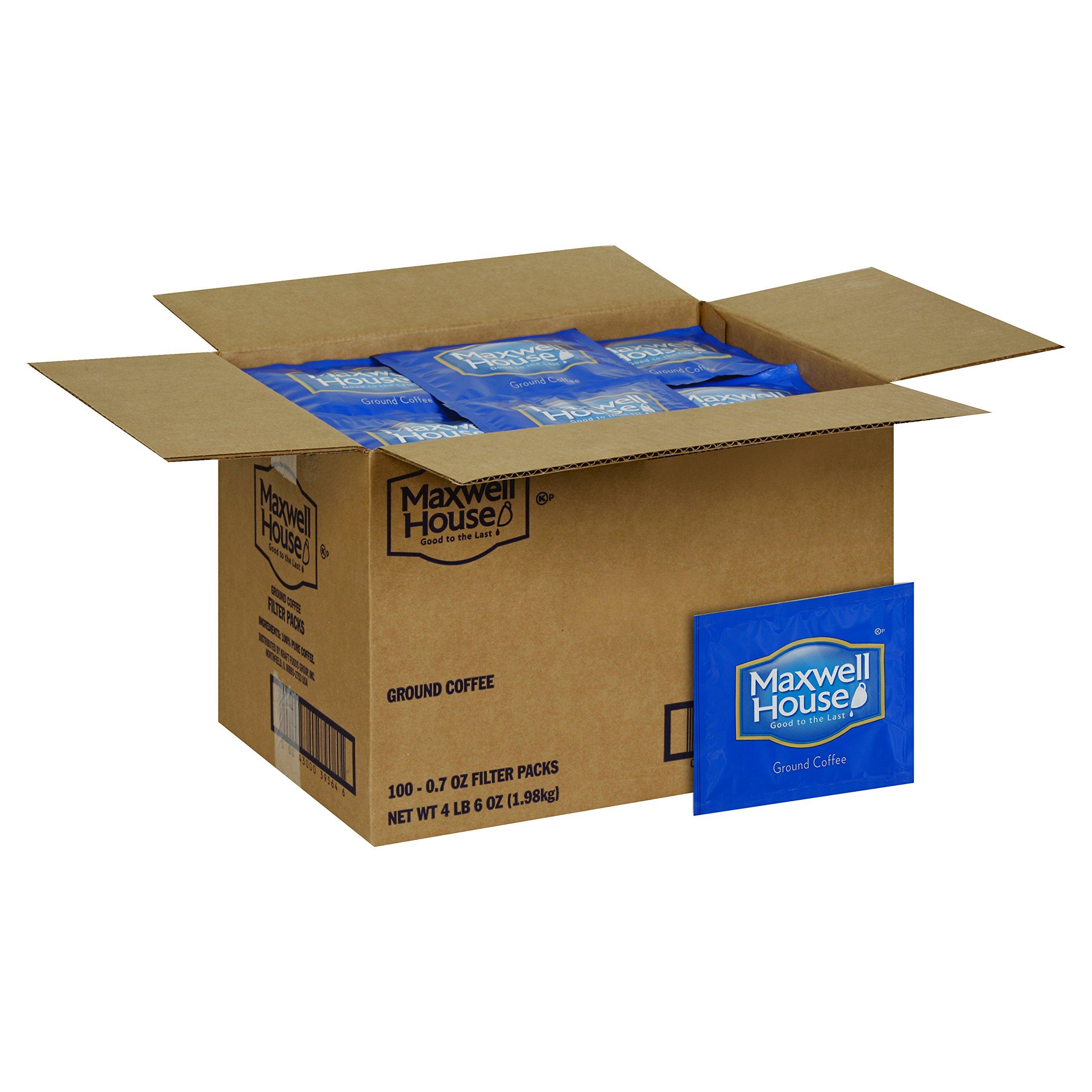 Maxwell House Roast & Ground In-Room Filer Coffee, 0.7 oz. pack, Pack of 100