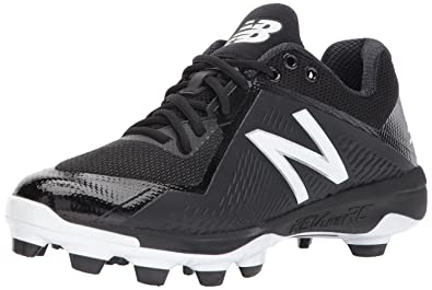 New Balance Men's PL4040v4 Molded Baseball Shoe, Black/White, ...
