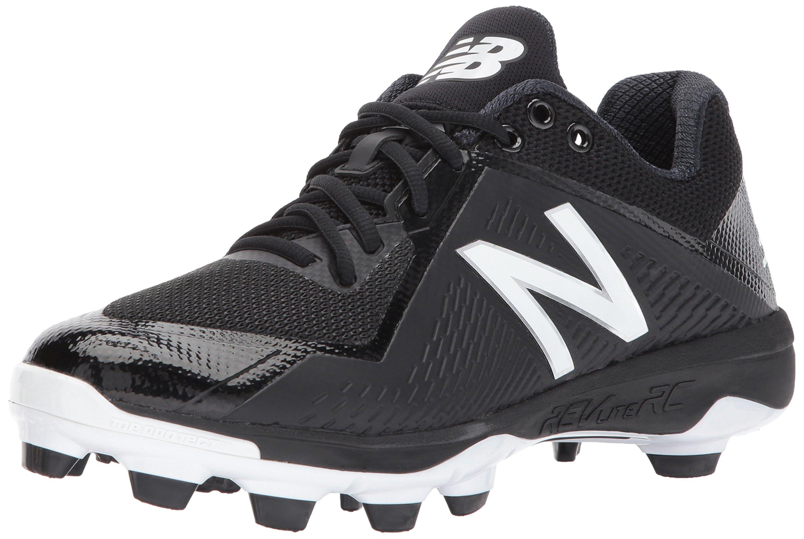 New Balance Men's PL4040v4 Molded Baseball Shoe, Black/White, 8 D US by New Balance