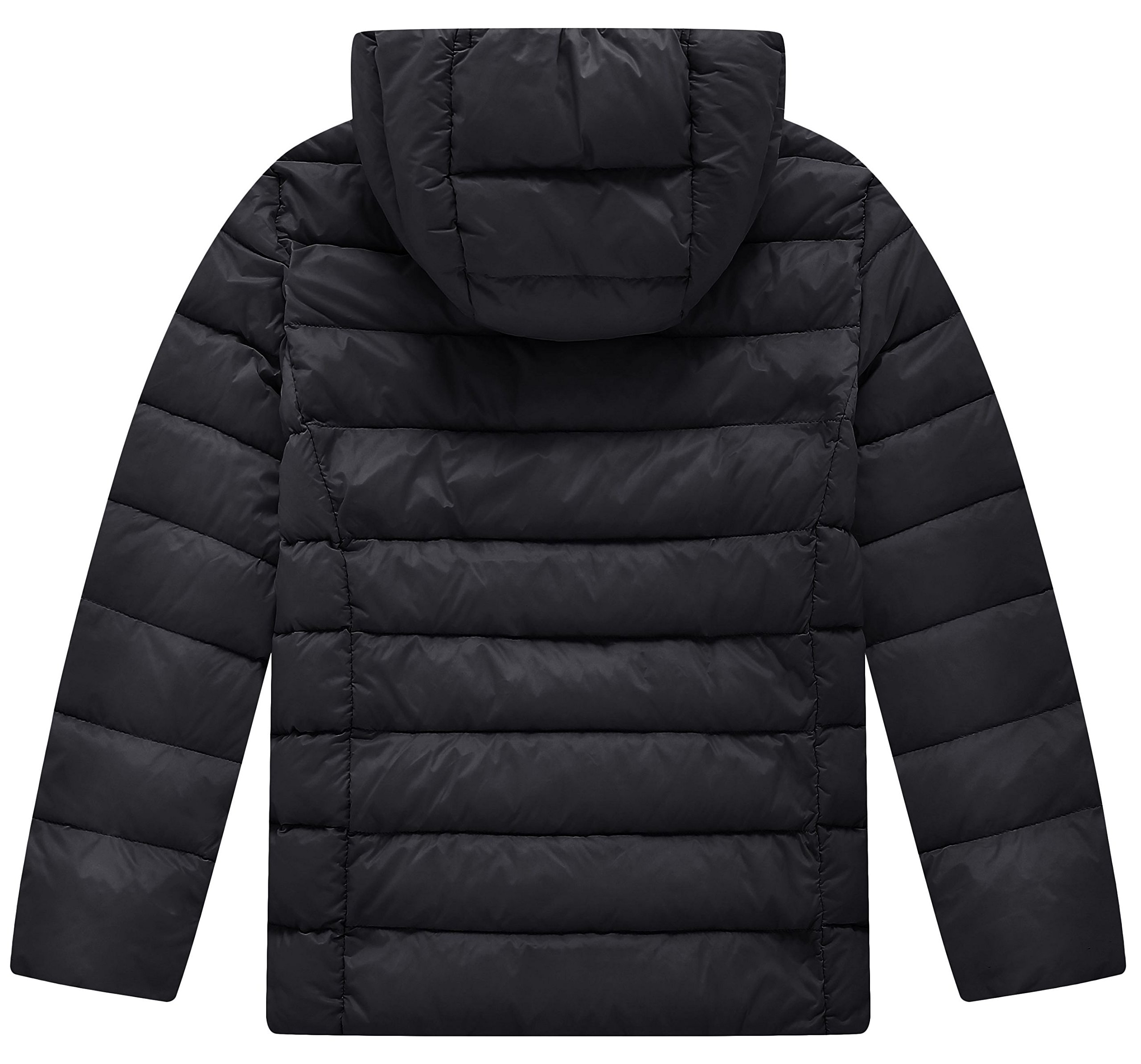Wantdo Boy's Lightweight Puffer Down Jacket with Hood Packable Outdoors Wind Breaker(Black, 10/12) by Wantdo (Image #2)