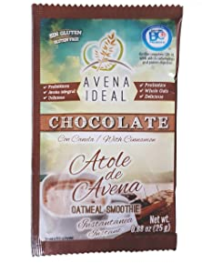 Avena Ideal Oatmeal Smoothie, Chocolate With Cinnamon, Gluten Free Oats, Vegan, 12 count