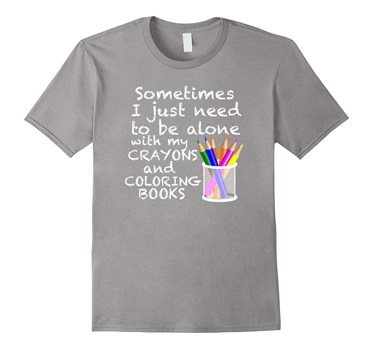 Coloring Books For Adults T-Shirt Adult Crayons Coloring Tee-RT ...