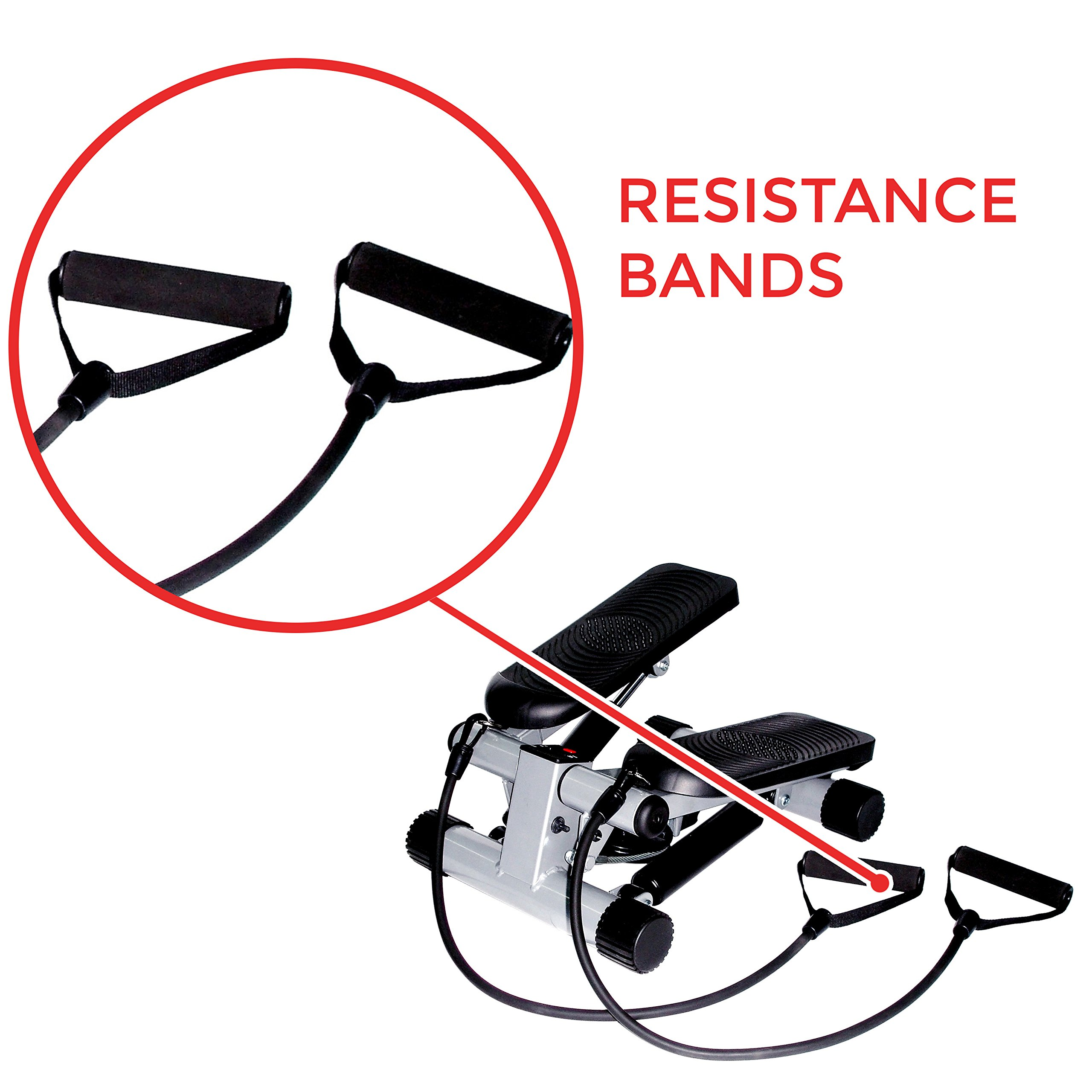 Sunny Health & Fitness Mini Stepper with Resistance Bands by Sunny Health & Fitness (Image #5)