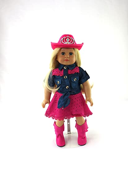 692ce39e3b3b2 Pink Cowgirl 4 PC Outfit | 18 inch American Girl Doll Clothes