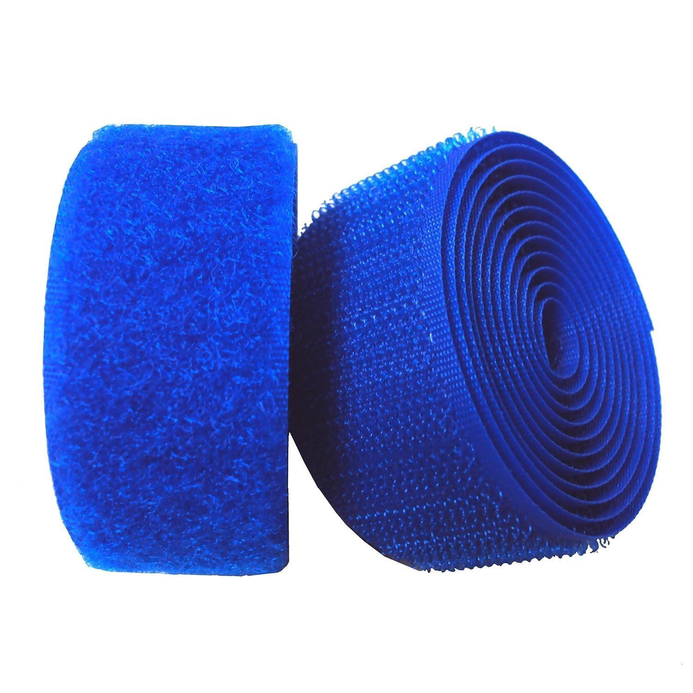 Lovetex 4 (102mm) Light Royal Blue Sew on Hook and Loop Fastener Tape 1 pair yard 4337005754