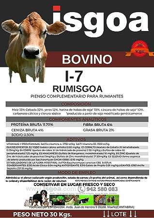 Pienso Vacas RUMISGOA I-7 Harina. Isgoa: Amazon.es: Productos ...