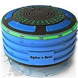 Radio da Doccia - Illumination Hydro-Beat. Altoparlante Bluetooth IPX7 portatile completamente impermeabile  con radio FM incorporata e le luci LED per l'umore. Ricaricabile tramite micro USB. (Blu e Nera)
