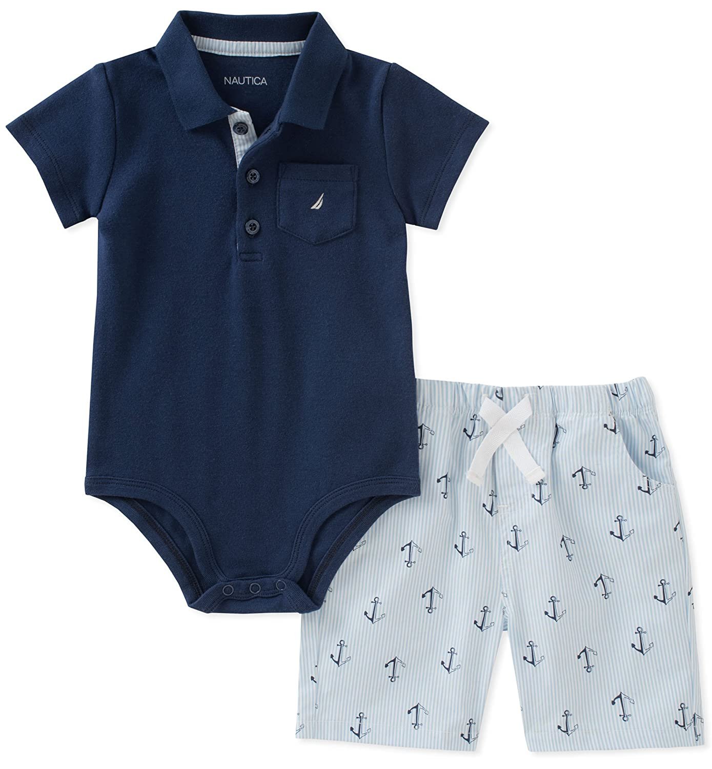 Nautica Baby Boys Bodysuit with Shorts N030D05Q