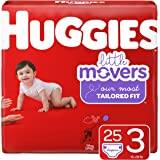 Huggies Little Movers Diapers, Size 3 (16-28 lb.), 25 Ct, Jumbo Pack (Packaging May Vary)