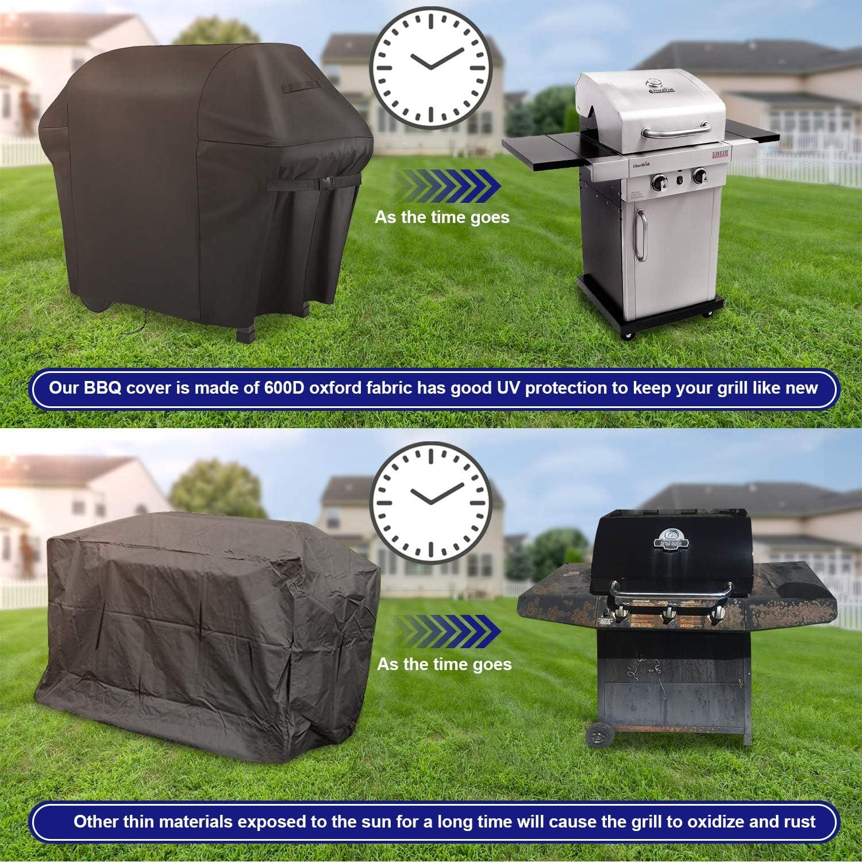 Copertura Barbecue Rotondo Impermeabile Telo Copri Protettivo in Tessuto Oxford 190T Anti Pioggia Polvere per Weber,58X77cm