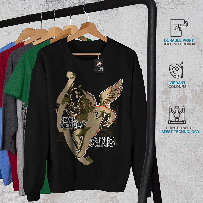 Mask Casual Jumper wellcoda Deadly Sins Angel Horror Mens Sweatshirt