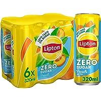 Lipton Zero Sugar, Peach Iced Tea, 320mlx6