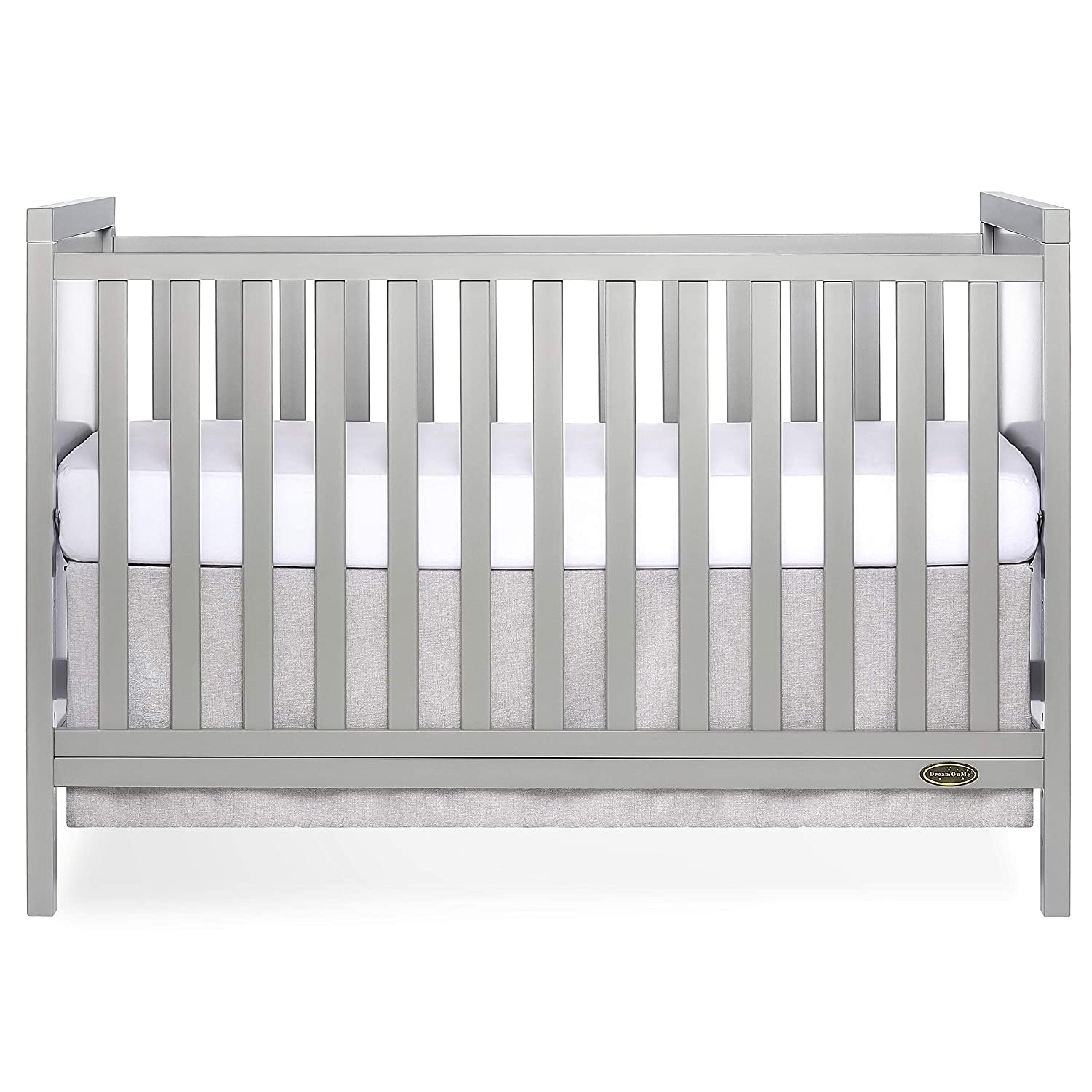 Dream On Me Springfield 3 in 1 Convertible Crib, Cool Grey
