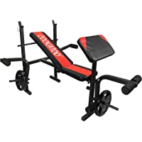 Cockatoo Olympic & Regular Weight Bench with Preacher Curl, Leg Developer and Crunch Handle,Multi-Exercise Bench