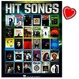 Hit Songs - 30 großartige Songs aus Reihe Easy Piano Songbook für Klavier - Von Adele bis Pharrell Williams, Ed Sheeran bis hin zu Justin Bieber - Notenbuch mit bunter herzförmiger Notenklammer