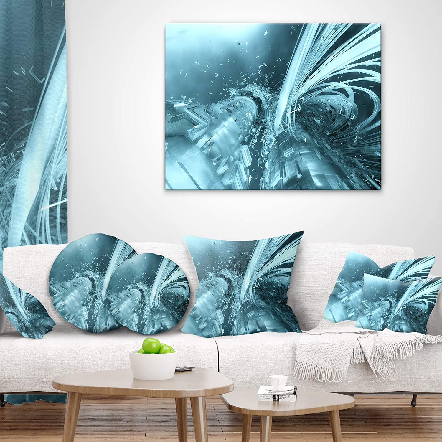 Sofa Designart CU6115-16-16-C Colorful Intuition Abstract Throw Cushion Pillow Cover for Living Room 16 Round