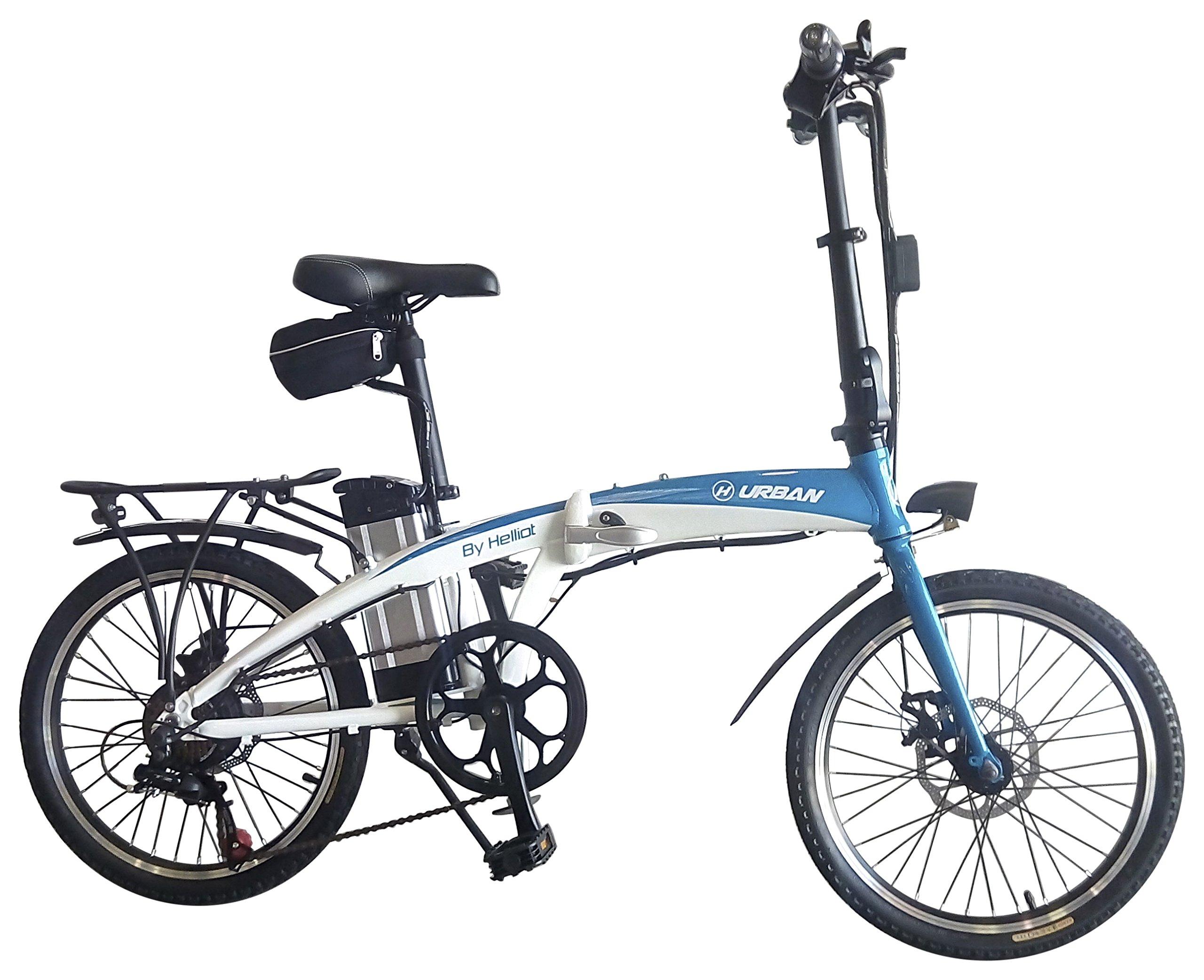 Helliot Bikes Byhell02 Bicicleta Eléctrica Plegable, Unisex Adulto, Azul/Blanco, Estándar product