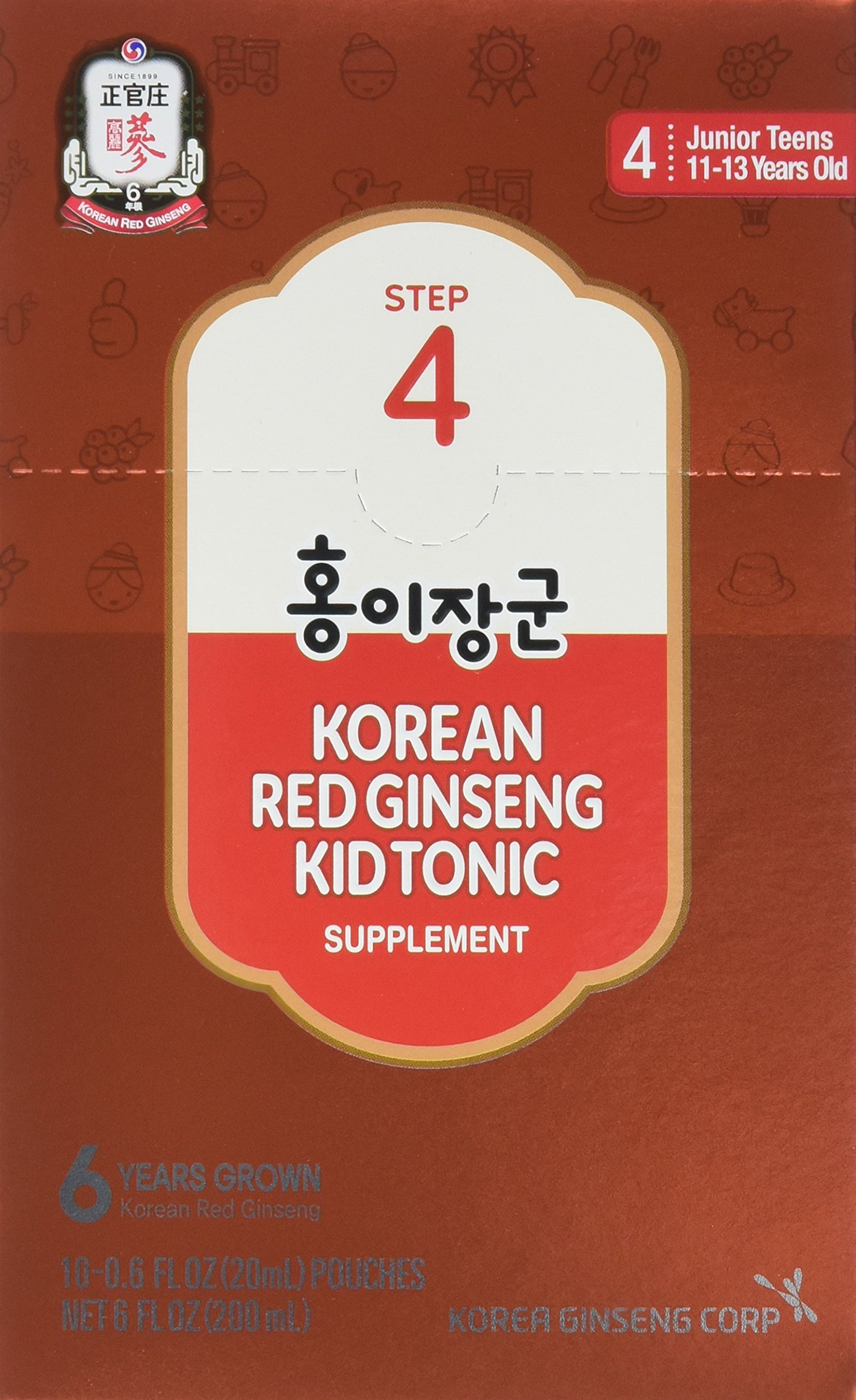 KGC Ginseng Step, 4 Kid Tonic, 11-14 Years, 30 Count