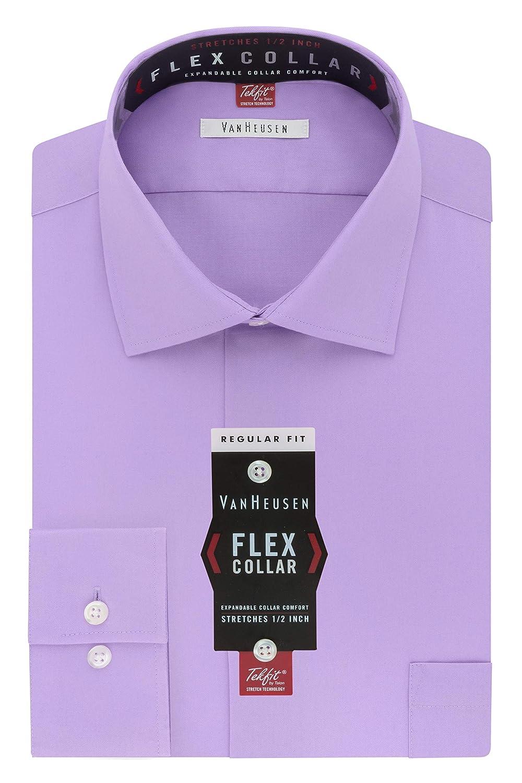 Dahlia violet 44 cm cou 81 cm- 84 cm hommeche (US taille) (US taille) Van Heusen Chemise à col américain souple et rigide en coupe droite ajustée pour homme