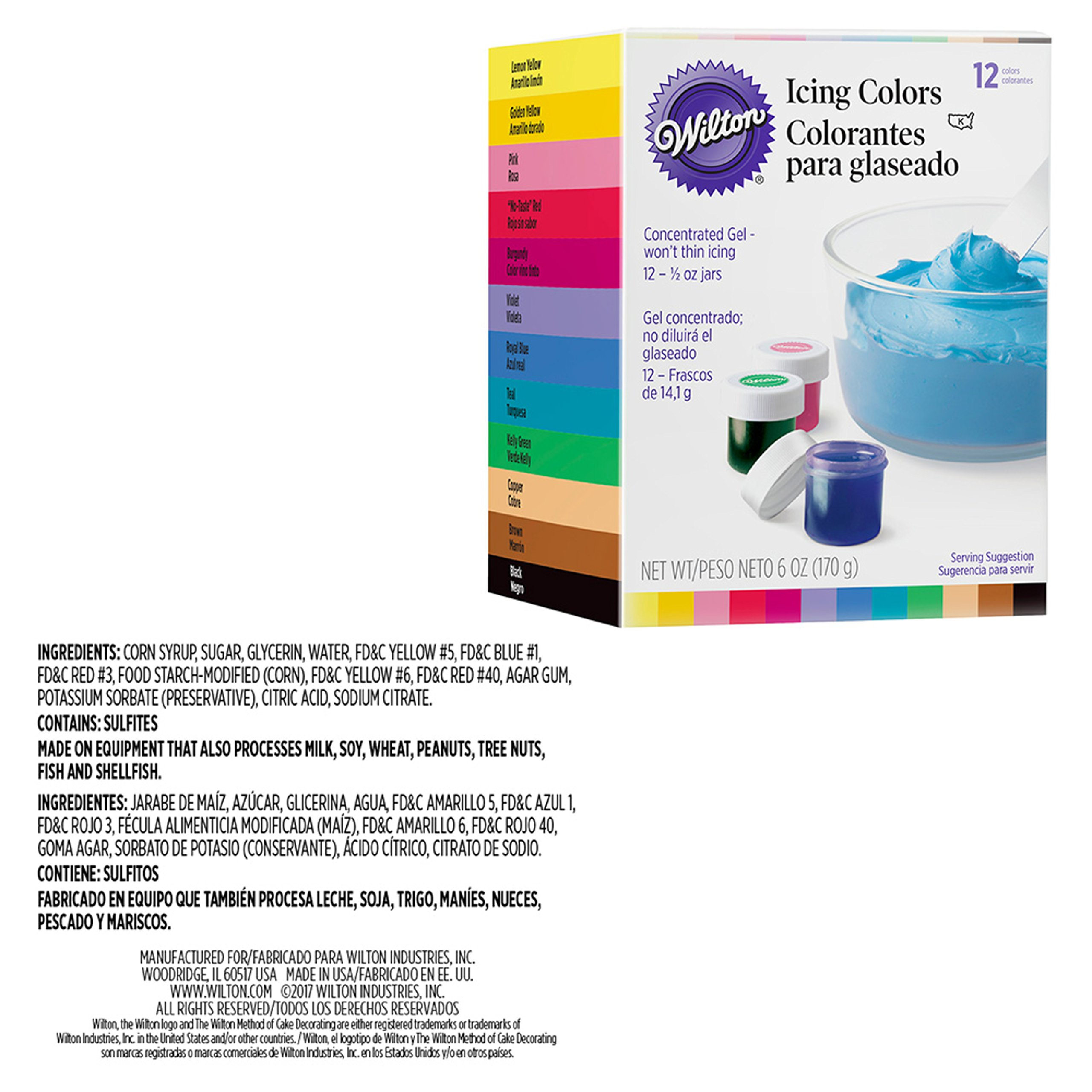 Wilton Deluxe Cake Decorating Tip Set, 52-Piece - 12 Gel-Based Icing Colors, 12 Count Package of 16-inch Disposable Decorating Bags and 29-Piece Deluxe Tip Set with case by Wilton (Image #2)