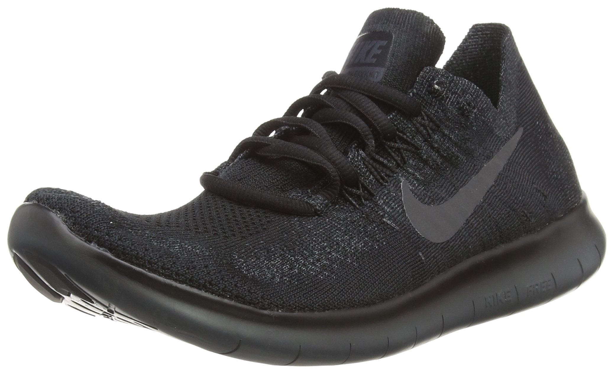 13dba4107fba Galleon - Nike Mens Free RN Flyknit 2017 Running Shoes Black Anthracite  880843-010 Size 11
