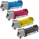 Speedy Inks - Compatible Dell 2130 Set of 4 HY Laser Toners T106C Black T107C Cyan, T108C Yellow T109C Magenta for use in Dell Color Laser 2130cn, Dell Color Laser 2135cn