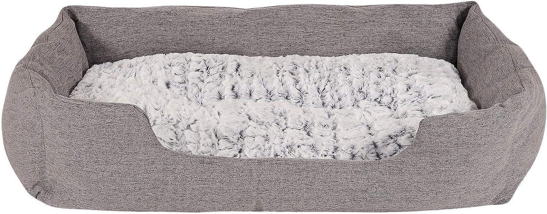 Dibea DB00752, Cama para Perro (Tela Mezcla) cojín de Piso Reversible, 110 x 80 cm, Gris (mas Colores y tamaños)