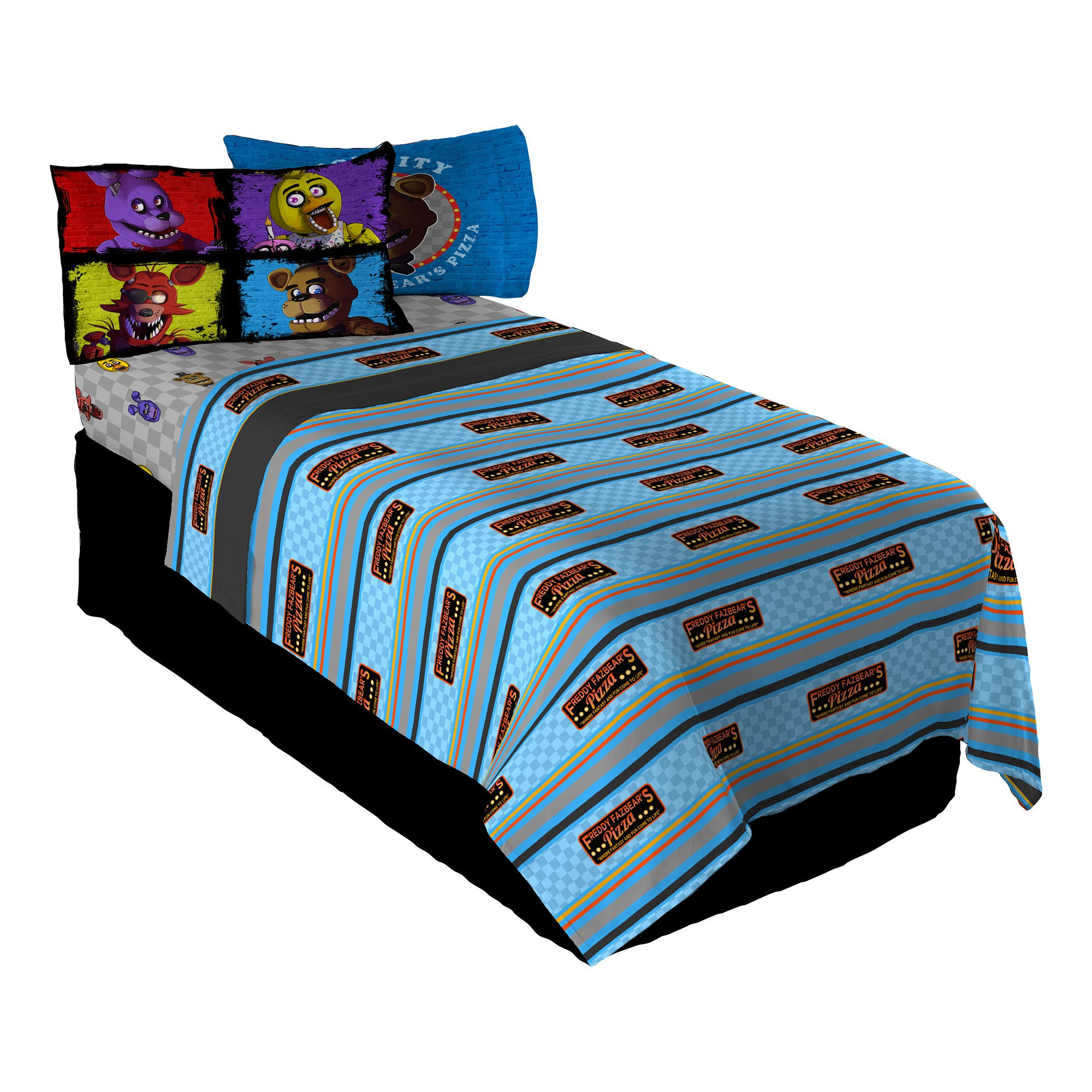 Scott Games Five Nights at Freddy's Pizza Security Twin Sheet Set