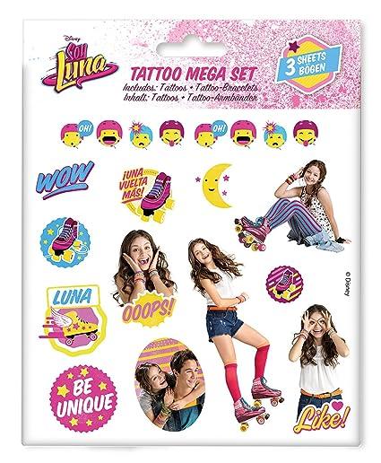 Craze 55442 - Tattoo Mega Set Disney Soy Luna, 3 Hojas, Colores ...