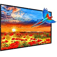 Updated 150 Inch Portable Projector Screen, YF2009 16:9 HD Foldable Anti Crease Indoor Outdoor Movie Projection Screen…