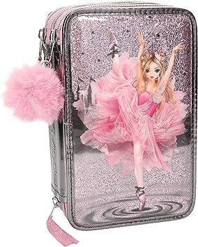 Depesche 10149 Estuche 3 Compartimento Fantasy Model Ballet, Gris, Multicolor: Amazon.es: Juguetes y juegos
