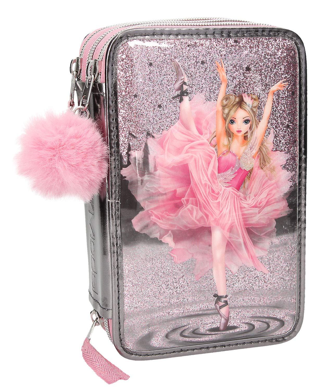 Depesche 10149 Trousse 3 Compartiments Fantasy Model Ballet Gris Multicolore