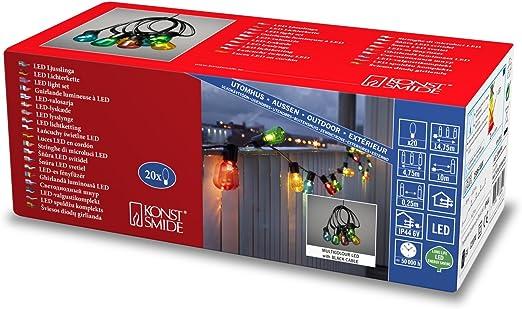 Konstsmide 2386-500 - Cadena de luz LED para cerveza de jardín ...