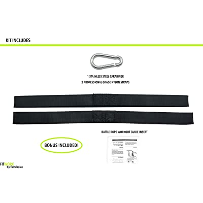Battle Rope Strap Kit For Undulation Fitness Training Supplies Workout I4T2