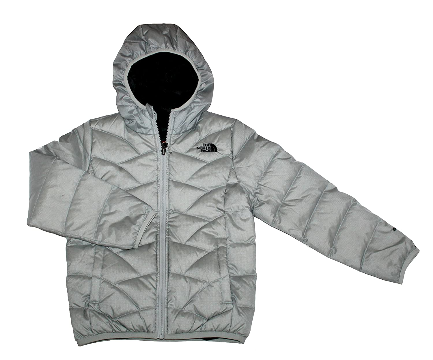 18053e74f The North Face Yoth Girls Luna Reversible Down Jacket High Rise Grey