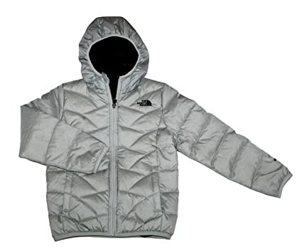 dc392ce438 The North Face Yoth Girls Luna Reversible Down Jacket High Rise Grey (S 8)