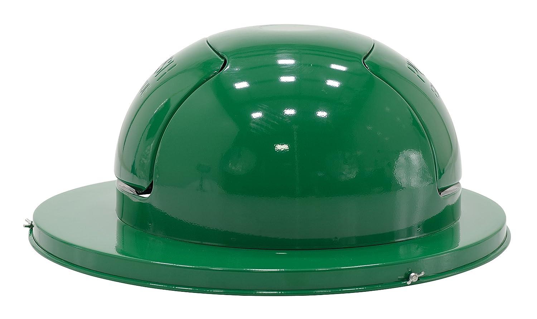 Pack of 3 Drop Ship Green Vestil TRASH-TOP-DD-GN-3PK Steel Waste Top Dual Door for Drum Vestil
