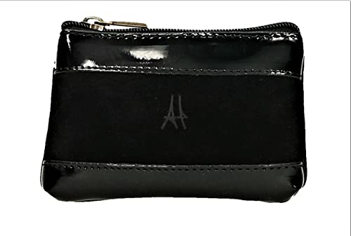 ANTHER CH1131N Monedero Ante-Charol de color Negro 12 X 8 cm ...