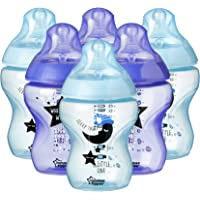 Tommee Tippee Closer to Nature Decorated Bottles, 260 ml, 6 Count