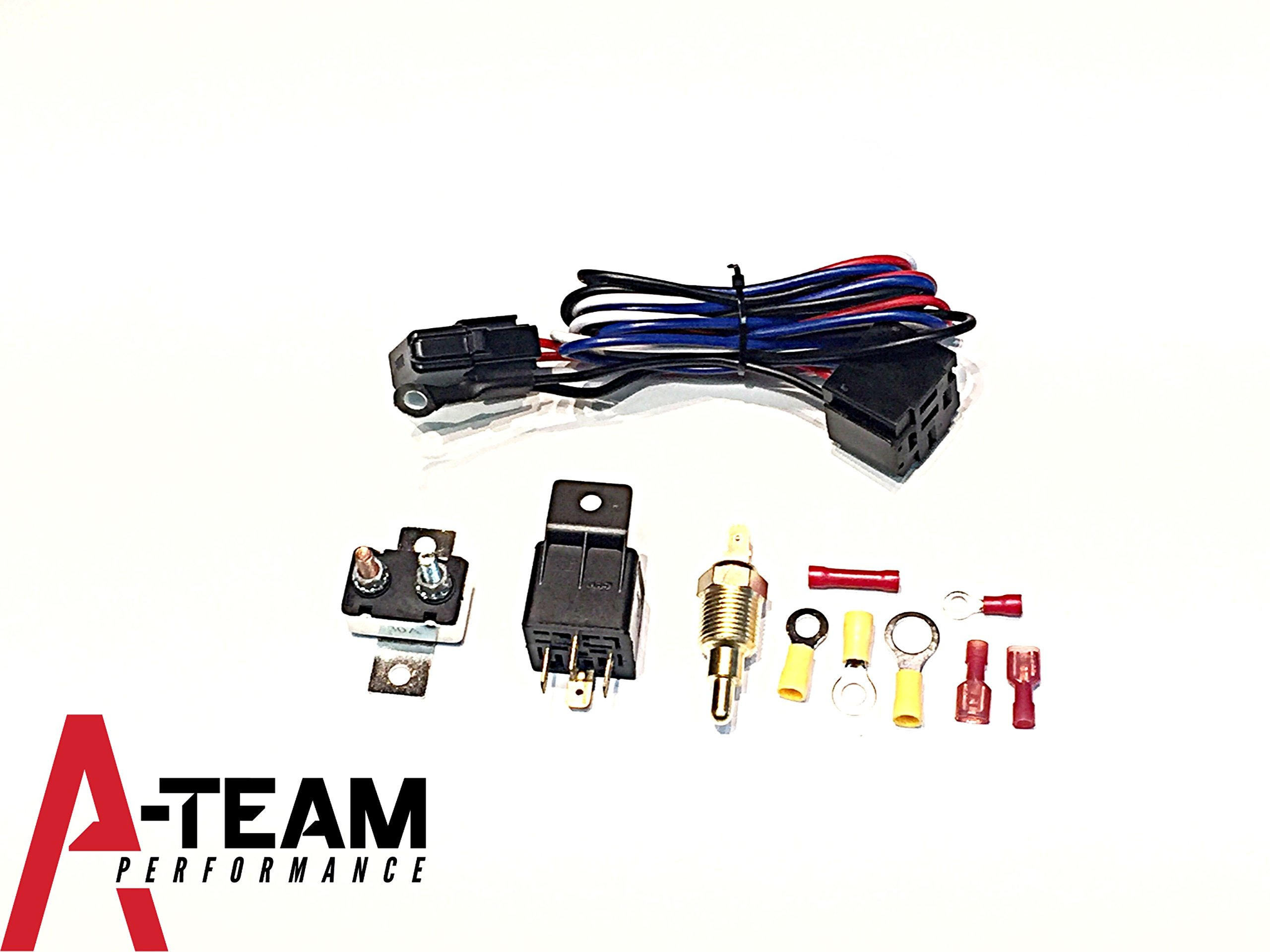 Best Rated In Automotive Replacement Engine Radiator Cooling Fan Wiring A Thermostat To Relay Team Performance New Electric W Install Kit Hardware 180