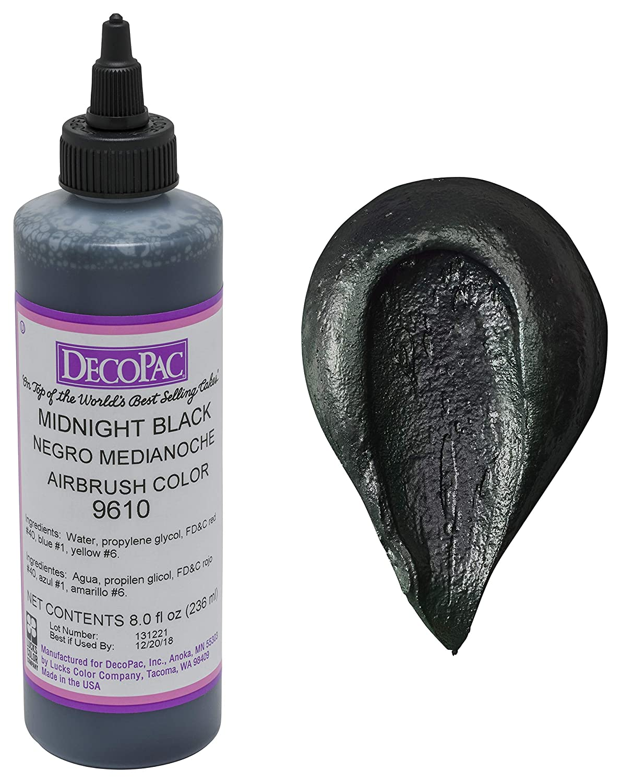 DecoPac Airbrush Color, Midnight Black, .6 Pound