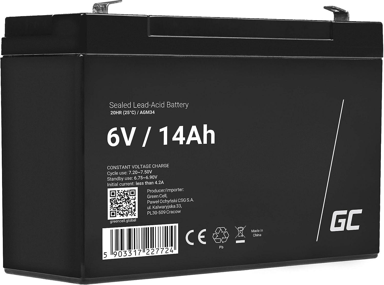 Green Cell Agm 6v 14ah Akku Vrla Blei Batterie Elektronik