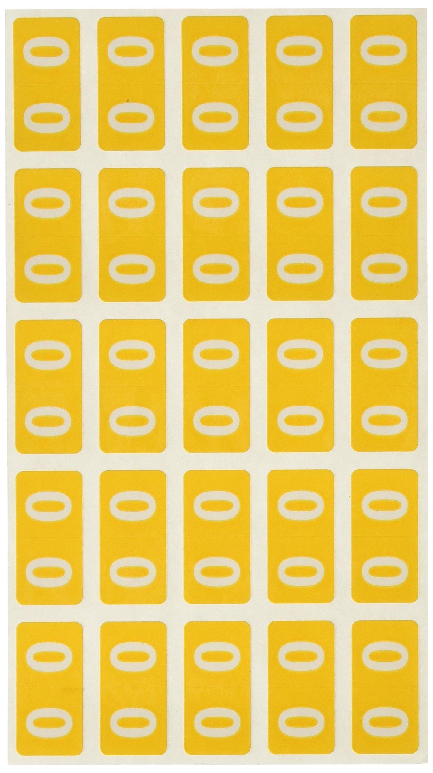SMEAD COMPATIBLE ETSN-ADU Etsn Color Code Label, Permanent, Numeric 1'' x 1/2, Assorted Colors, 250 per Pack, 10 Packs per Set (Pack of 100)